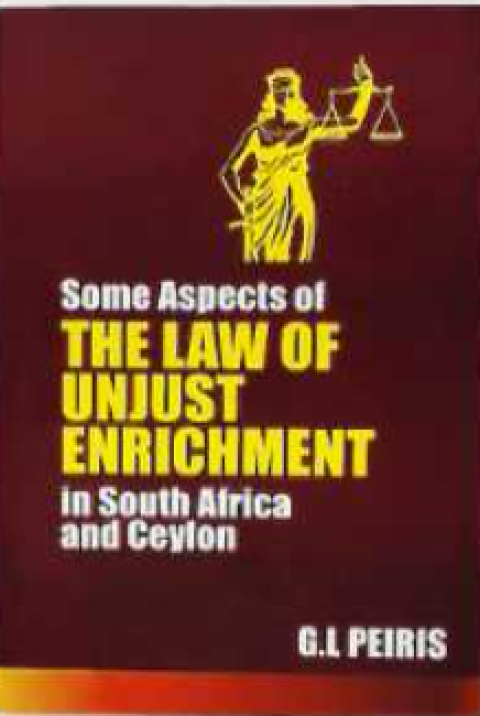 SOME ASPECTS OF THE LAW OF UNJUST ENRICHMENT IN SO